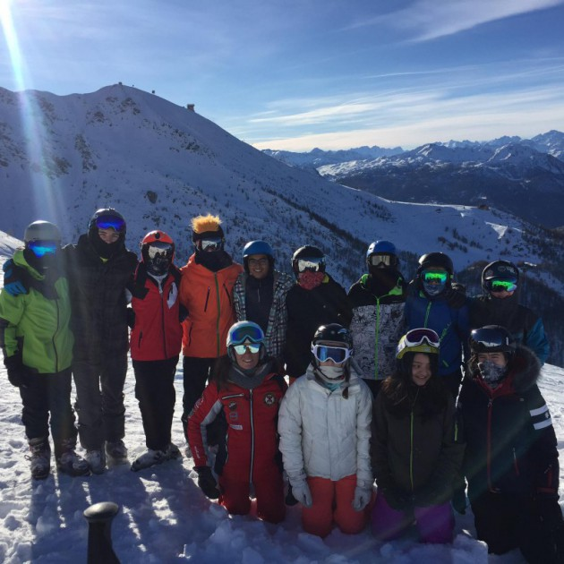 Hitting the slopes in Sestriere