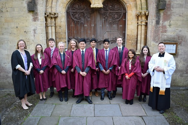 Dedication Service for new School Prefects
