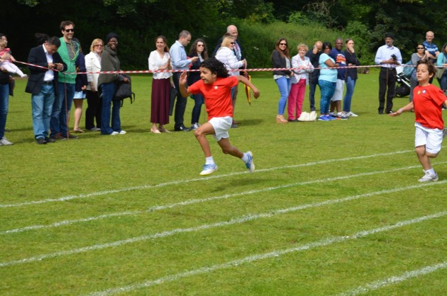 The sun shines for Infant Sports Day
